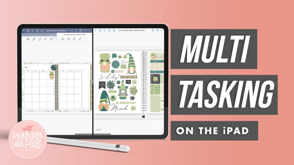 Multitasking on your iPad is a game-changer. I don't know about you, but I'm always looking for shortcuts or ways to be a little bit more efficient in life. And, when it comes to digital planning, the multitasking feature on the iPad is it!